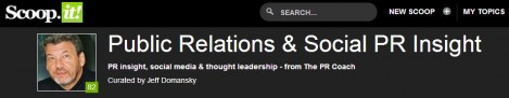 Scoopit Public Relations Insight masthead