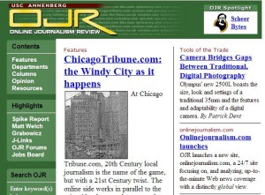 Online Journalism Review and future of digital journalism