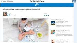 Dell launches first New York Times native ads