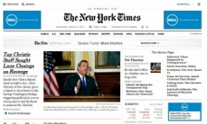 Redesigned NYT news website